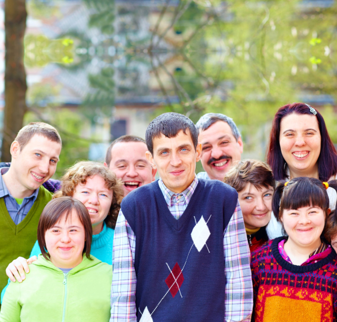 group people with developmental disability
